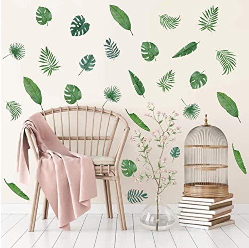 39 Stück Grünes Blatt Wandaufkleber,Wandsticker für Wohnzimmer, Moderne Pflanze Wandtattoo,DIY Abnehmbar für Blätter Grüne Wandbilder für Kinderzimmer Schlafzimmer Klassenzimmer Babyzimmer Spielzimmer