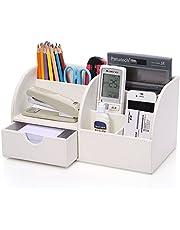 KINGFOM Bureau-organizer, organizer, PU-leer, pennenhouder, pennenbox, pennenkoker, multifunctionele kantoorbenodigdheden