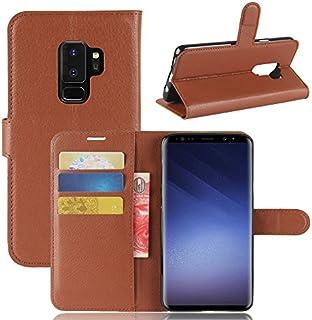 Samsung Galaxy S9 Plus シェル フリップ カバー 耐久保護ケース, MeetJP シェル の Samsung Galaxy S9 Plus - Brown