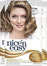 Clairol Nice'n Easy Permanent Hair Dye, 7 Dark Blonde Hair Color, 3 Count