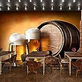 BZDHWWH Fototapete Europäischen Weinkeller Tapete Ktv Bar Restaurant Industrie Lounge Halle Dekoration Bier Tasse Tapete Wandbild,280cm(W) x 180cm(H)