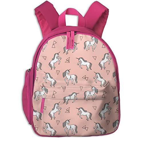 Mochila Infantil niña,Tela de Unicornio Rosa Tela de Unicornio Chicas Rosa Unicornio Design_3320 - Andrea_Lauren, para escuelas de niños Ropa de Oxford (Rosa)