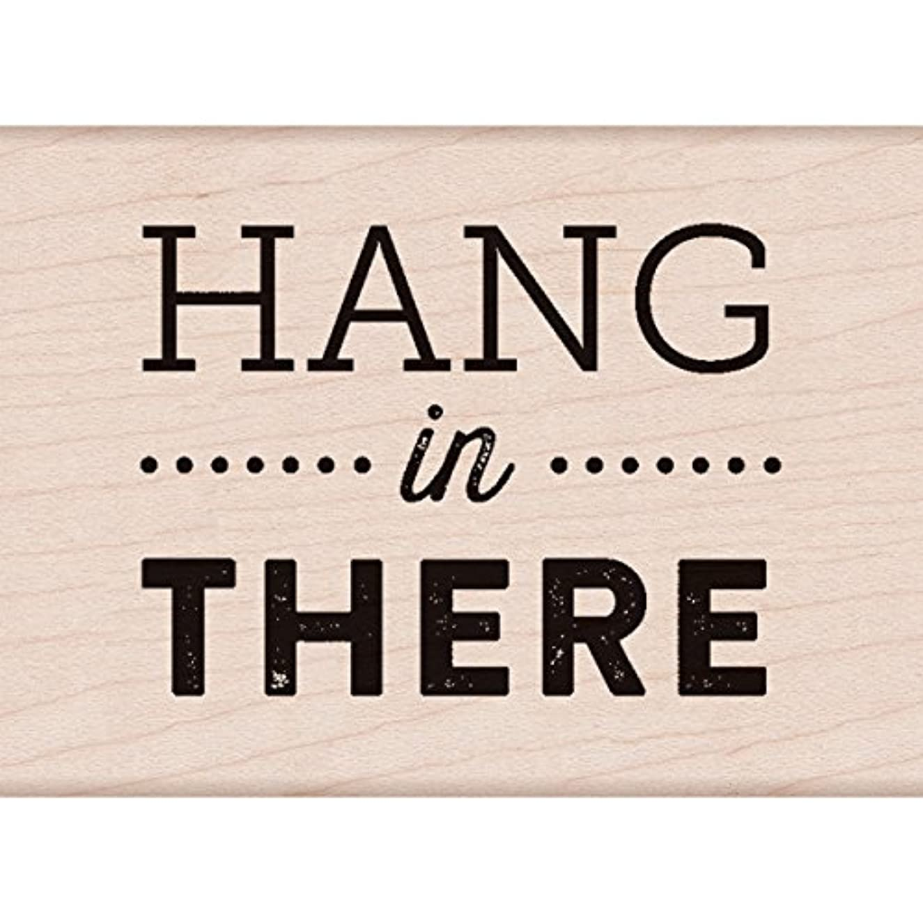 Hero Arts Hang in There Red Rubber Woodblock Stamp