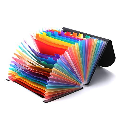 A-Zアコーディオンファイルフォルダー拡張ドキュメントポケット(25ポケット/ 24層)保護フラップカバー付きA4 /レターサイズホームオフィスアーカイブビジネス向けの大容量シックオーガナイザー