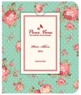 Darkhorse.Inc 84ポケット 3インチのアルバム フォトアルバム 花のバラ グリーン 写真保管 整理やすい いいギフト