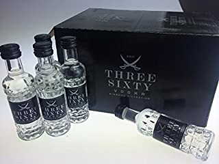 Three Sixty Vodka Miniatur 0,04l 37,5% 5er Pack