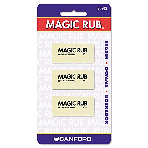 Sanford Products - Sanford - MAGIC RUB Art Eraser, 3/Pack - Sold As 1 Pack - Non-abrasive vinyl for use on drafting films, tracing papers. - Absorbs graphite, erases India ink. -