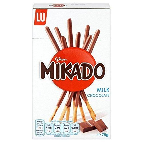 Mikado Lait Biscuit Au Chocolat 75G - Paquet de 6