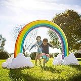 Aufblasbar Sprinkler Spielzeug Regenbogen, Kinder Summer Outdoor Wasser Sprinkler Giant Rainbow Garten Wasserspielzeug, 280*80*160cm