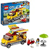 LEGO 60150 City Great Vehicles Pizza Van and Scooter Building Set with Chef and Pizza Chunks, Summer