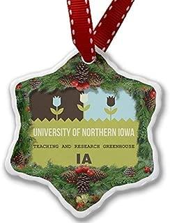 VinMea Christmas Ornament US Gardens University of Northern Iowa Teaching and Research Greenhouse - IA Xmas Decorative Hanging Ornament