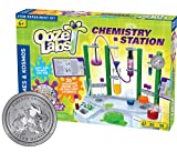 Thames & Kosmos Ooze Labs Chemistry Station Science Experiment Kit, 20 Non-Hazardous Experiments Including Safe Slime, Chromatography, Acids, Bases & More