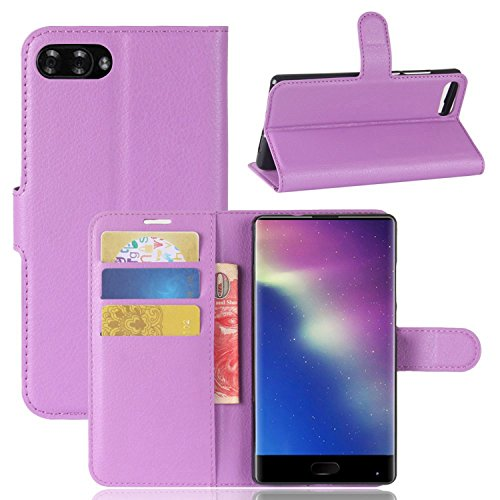 Ycloud Tasche für Doogee Mix Hülle, PU Kunstleder Ledertasche Flip Cover Wallet Case Handyhülle mit Stand Function Credit Card Slots Bookstyle Purse Design lila