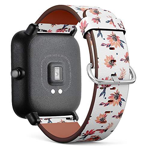 Compatible con Huami Amazfit Bip – Reloj de Pulsera de Piel con pasa