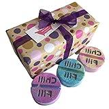 Be-Creative Juego de regalo con bomba de baño, regalo hecho a mano, regalo de Navidad o cumpleaños (set de regalo para tomar un chill out)