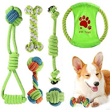 ❤️️ 【Haustiere Favorit 】 ACE2ACE Hundespielzeug seil kann Hunde helfen, weg von Einsamkeit und Langeweile zu bleiben, ihnen mehr Sicherheit und Gesellschaft.Von ob drinnen oder draußen, wir können mit dem hund durch Interaktives spielzeug spielen, re...