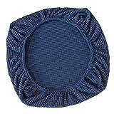 non-brand Set Cubiertas Elàstico para Sillas Asientos Protector Slipcover Decor de Casa hogar Suave Cómodo - Azul Oscuro
