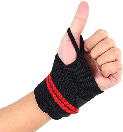 Weight Lifting Sports Wristband Gym Fitness Wrist Thumb Support Straps Wraps Bandage Training Safety Hand Bands With Strap