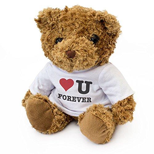 London Teddy Bears Teddybär I Love You Forever, niedlich, weich, kuschelig, Geschenk für Geburtstag und Weihnachten