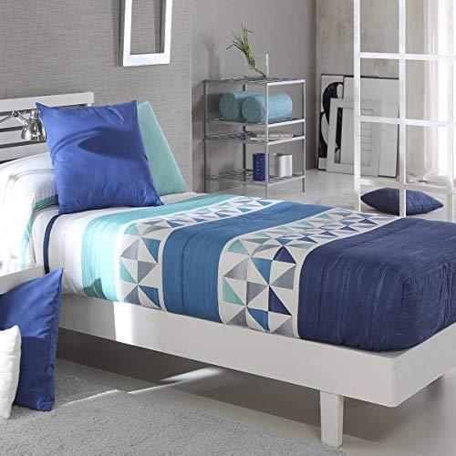 Reig Marti - Edredón Ajustable Wang AG - Cama 90 Cm - Color Azul C03