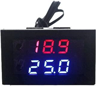 KETOTEK Programmable Thermostat Regulator Fish Tank DC 12V 10A Digital Adjustable Temperature Controller -50-110C Incubation Thermostat Waterproof Sensor Probe Mini Microcomputer