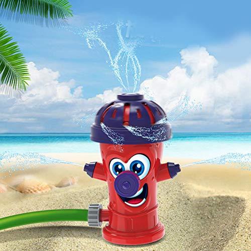 redcolourful Sprinkler Kinder Feuer-Hydrant befestigen Wassersprinkler für Gartenschlauch für Hinterhof, Spaß rot Interessantes Gehirnspiel