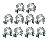 XtremeAmazing Replacement for 5/16' Fuel Injection Hose Clamps (Pack of 10) 1/2' - 9/16' Dia