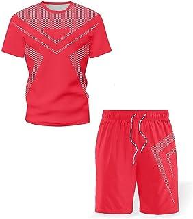 WZHZJ NOUVEAU T-shirt pour hommes Costume Short, Été Respirant Opération occasionnelle Ensemble Fashion Homme Sport Suit (...