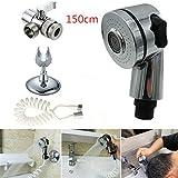 DEKA.O84 - Juego de soportes para alcachofa de ducha para lavar el cabello, el baño y la casa