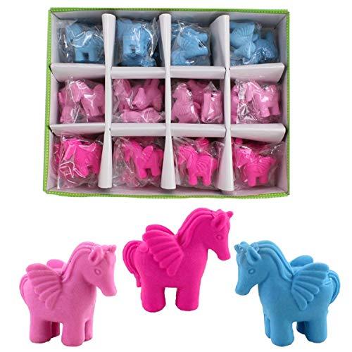 6x Radiergummi Einhorn Pink Bunt Eraser Mitgebsel Schule Büro Kinder