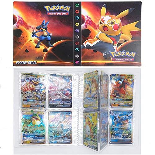 SunAurora Porte Cartes Pokemon, Classeur pour Cartes Pokemon, Albums Pokemon GX EX Trainer,Peut Contenir 240 Cartes (Pikachu)