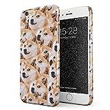 Glitbit Coque pour iPhone 6 / 6s Case Doge Pattern Shiba Inu Akita Cute Dog Puppy Doggo Chien Housse...