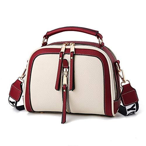 Fashion Stitching Shoulder Bag Women PU Leather Handbag Crossbody Bag Chains Square Bag Lady Purse