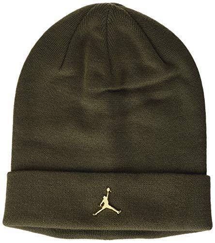 NIKE Jordan Cuffed Beanie Metal Jm Hat, Unisex Adulto, Cargo Khaki/(Metallic Gold),...