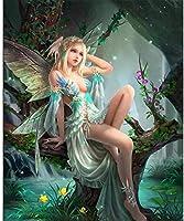 DMFNGJSD 数字油絵 フレーム付き 、数字キット塗り絵 手塗り DIY絵-蝶の美しさ-デジタル油絵 40x50 cm