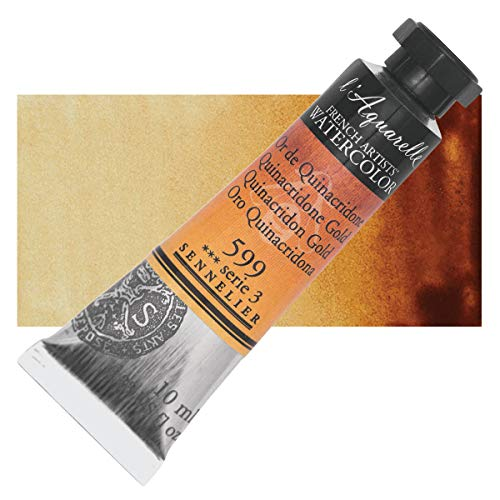 Sennelier l'Aquarelle Watercolor Tubes 10ml - Quinacridone Gold 10ml Tube