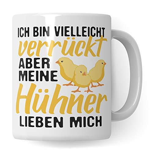 Pagma Druck Tasse Hühner Geschenk   Huhn Becher Geschenkidee   Kaffeetasse Küken Hühnerhalter Spruch Hühnerstall Motiv Kaffeebecher