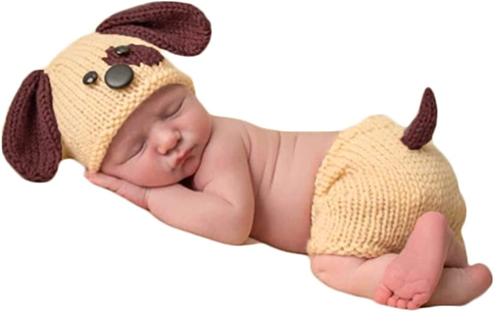 Newborn Baby Photography Sales of SALE items from new works Props Outfits Knitted Save money Crochet Dog Blue