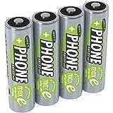 ANSMANN Akku AA Mignon 800mAh 1,2V NiMH für Schnurlostelefon 4 Stück - Wiederaufladbare Batterien mit geringer Selbstentladung maxE - Akkus ideal für Haustelefon schnurlos - Rechargeable...