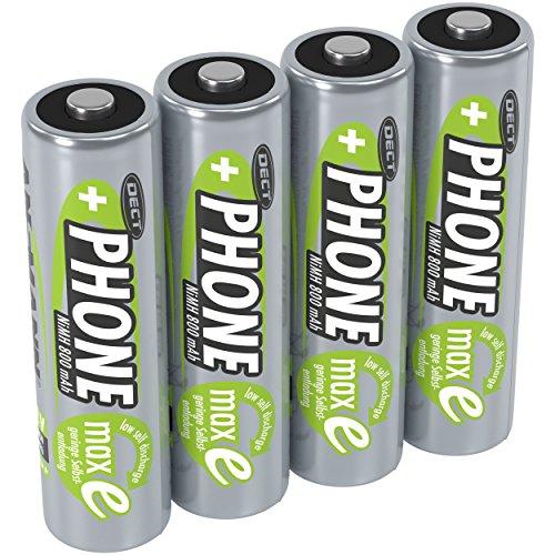 ANSMANN Akku AA Mignon 800mAh 1,2V NiMH für Schnurlostelefon 4 Stück - Wiederaufladbare Batterien mit geringer Selbstentladung maxE - Akkus ideal für Haustelefon schnurlos - Rechargeable Battery