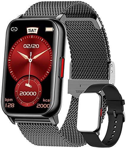Jpantech Smartwatch,1.57 Zoll Touch-Farbdisplay Fitness Armbanduhr mit Pulsuhr Fitness Tracker IP68 Wasserdicht Sportuhr Smart Watch mit Schrittzähler,Schlafmonitor,Stoppuhr für Damen Herren