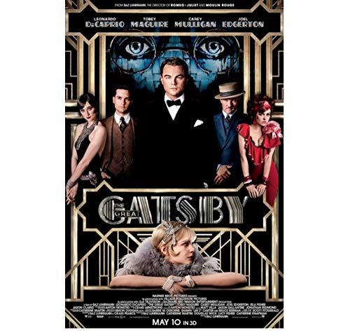 ZOEOPR Poster su Tela Leonardo Dicaprio Il Grande Gatsby Poster di Film Star Poster Pittura su Tela Immagini di Arte della Parete Home Decor 50 * 70Cm Senza Cornice