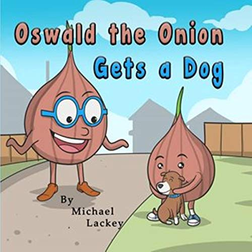 Oswald the Onion Gets a Dog audiobook cover art