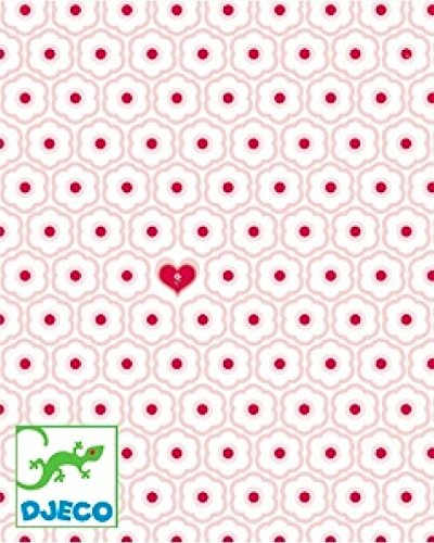 DJECO behang kleine hartjes (54270) meerkleurig (1)