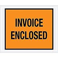 Aviditi PL17 Poly Envelope Legend PACKING LIST/INVOICE ENCLOSED 4-1/2 Length x 5-1/2 Width 2 mil Thick Black on Orange (Case of 1000) [並行輸入品]