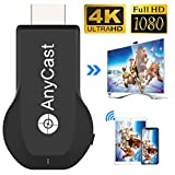 4K&1080P Wireless HDMI Display Adapter,iPhone Ipad Miracast Dongle for TV,Upgraded Toneseas Streaming Receiver,MacBook Laptop Samsung LG Android Phone,Business Education Office Birthday Gift
