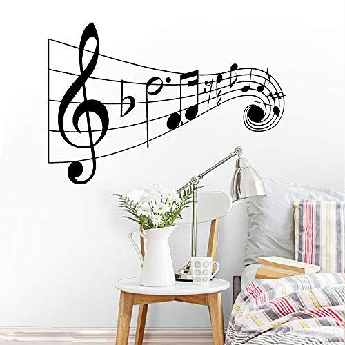yaonuli Vinyl musiknoten wandtattoo beschriftung Wort wandaufkleber Noten wandmalerei Familie Musik Club Dekoration 63x76 cm