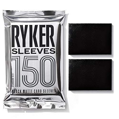 Ryker Sleeves Standard Matte Card Sleeves, 5X Stronger, for Magic The Gathering MTG Pokemon Trading Cards Board Games (1 Pack, Black)