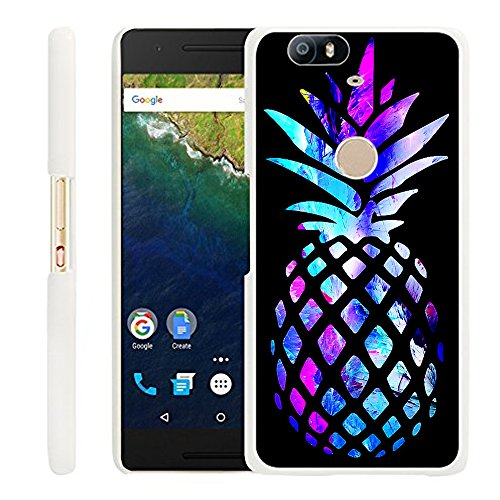 Huawei Google Nexus 6P Case Pineapple,Gifun Slim White Case Cover for Huawei Google Nexus 6P - Colored Marble Pineapple