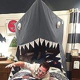 Tienda de campaña para niños Baby Criby Canopy Lectura Nook Toldo Big Shark...